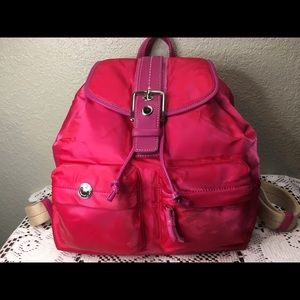 New Coach Pink Backpack